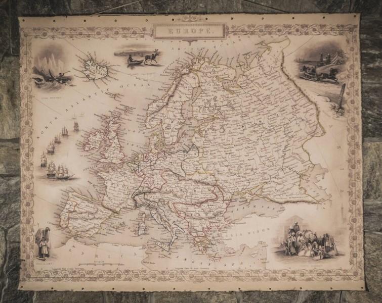 Mappe antiche dell'Europa del 1851